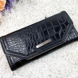 Dana Buchman Black Texture Top Flap wallet